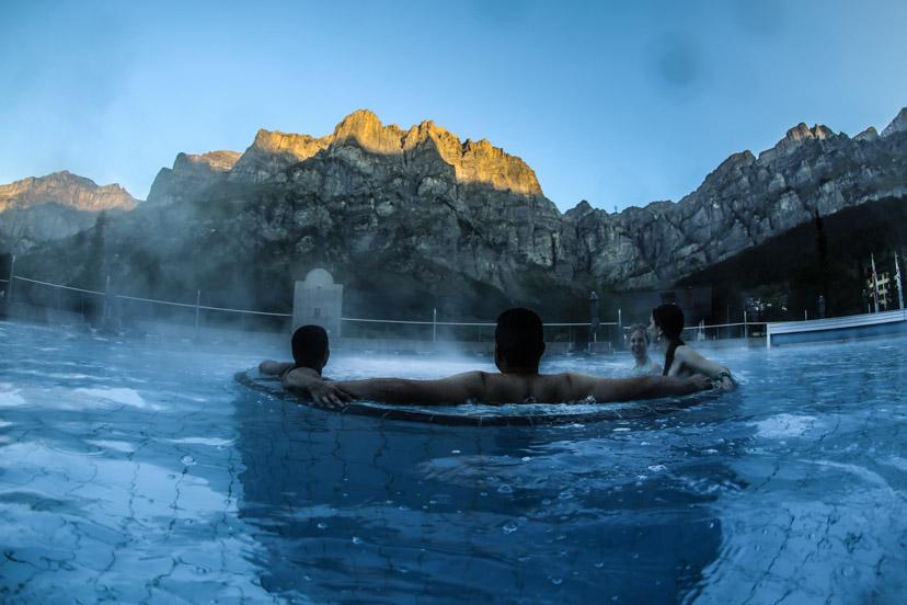 Walliser Alpentherme & Spa, Whirlpool Sommer