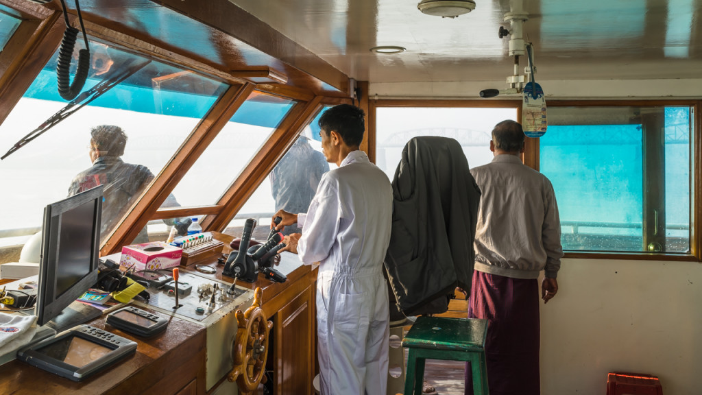 Schiff nach Bagan