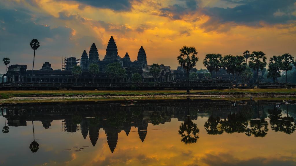 Angkor Wat, Kambodscha, Cambodia, Sieam Reap, Sunrise, Temple