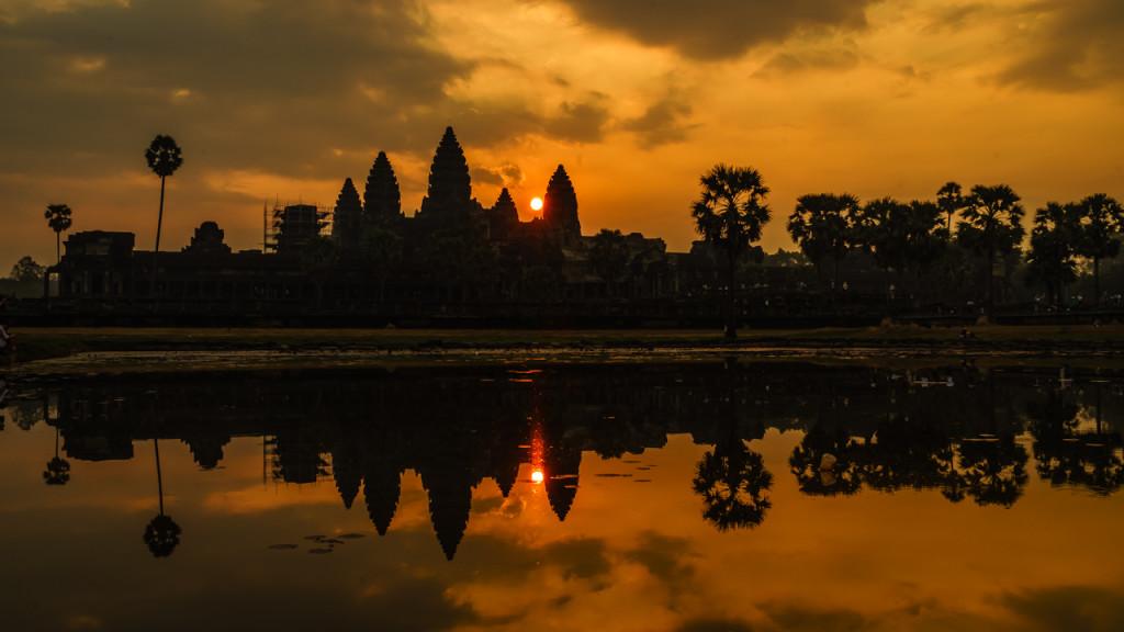 Angkor Wat, Kambodscha, Cambodia, Sieam Reap, Sunrise