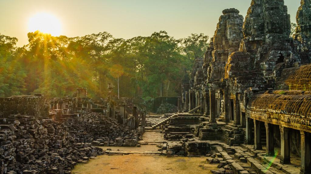 Angkor Wat, Kambodscha, Cambodia, Sieam Reap, Bayon, Sunrise