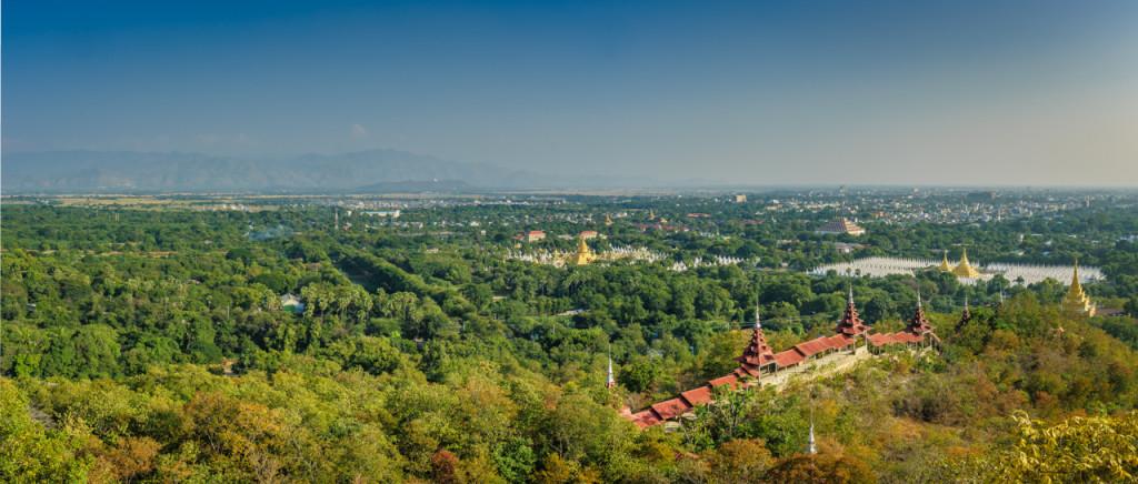Mandalay Hill, Mandalay, Panorama, Myanmar