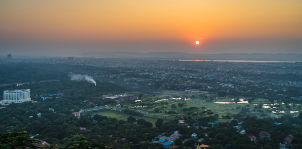 Mandalay, Sunset, Mandalay Hill, Myanmar