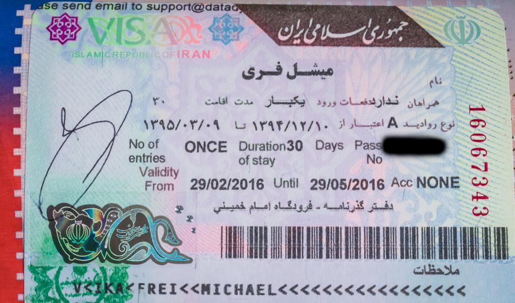 Visa, Iran
